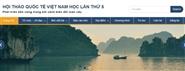 Mời viết bài tham gia Tiểu ban 4 tại Hội nghị quốc tế Việt Nam học lần thứ 5 năm 2016
